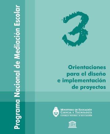 Programa Nacional de Mediación Escolar. Orientaciones ... - DPEGP