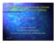 Piloting of Commission des lésions professionnelles ... - Ccat-ctac.org