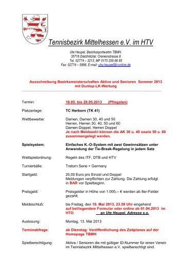 Ausschreibung - TC Ehringshausen