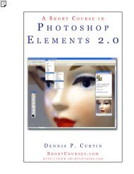 A Short Course in Photoshop Elements 2.0 - PhotoCourse