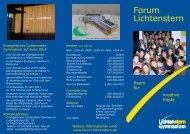 Forum Lichtenstern - Flyer - Lichtenstern-Gymnasium