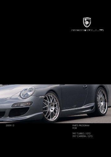 PARTS PROGRAM FOR 997 TURBO / GT2 997 CARRERA / GT3 ...