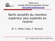 Nerfs sensitifs du membre supérieur peu explorés en routine