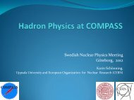 Hadron Spectroscopy with COMPASS at CERN - Compass - CERN