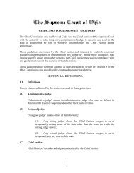 Guidelines for Assignments of Judges - Supreme Court