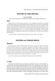 Atatürk ve Türk Dünyası - KASTAMONU EĞİTİM DERGİSİ