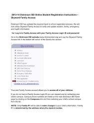 Skyward Family Access - Dickinson ISD