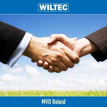 MVO Beleid - Wiltec