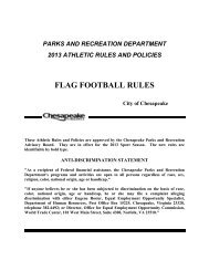 Youth Flag Football Rules - City of Chesapeake
