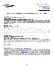 March, April & May Upcoming Events - West Shore Chamber of ...