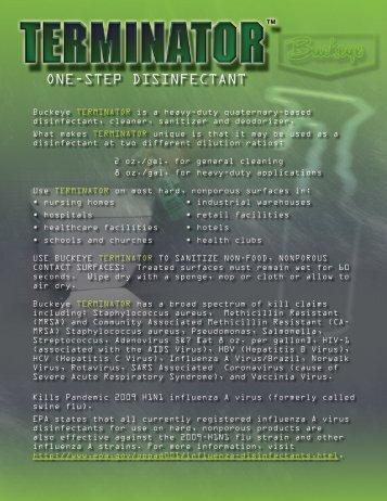 Terminator Product Literature - Buckeye International, Inc.
