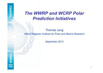 The WWRP and WCRP Polar Prediction Initiatives