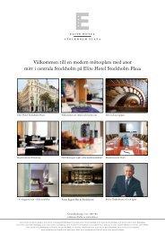 Välkommen till en modern mötesplats med anor mitt i ... - Elite Hotels