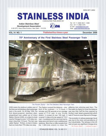 STAINLESS INDIA - Indian Stainless Steel Development Association