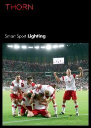 Smart Sport Lighting - Thorn