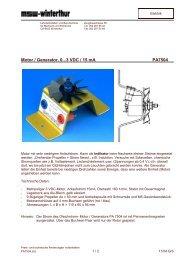 Motor / Generator, 0...3 VDC / 15 mA PA7504