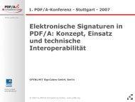 Elektronische Signaturen in PDF/A: Konzept, Einsatz und technische ...