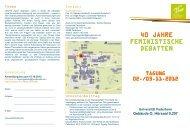 Flyer - Fachbereich Philosophie und Geisteswissenschaften