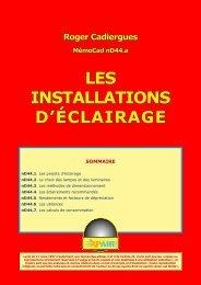 LES INSTALLATIONS D'ÉCLAIRAGE