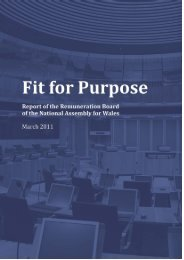 Fit for Purpose - National Assembly for Wales