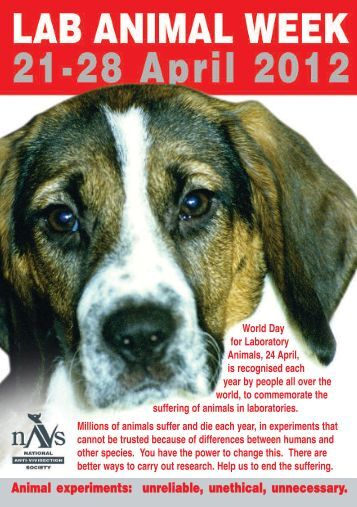 Animal experiments: unreliable, unethical, unnecessary. - NAVS