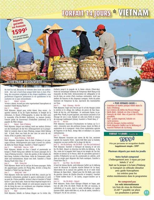 Cambodge-Laos-Vietnam - Voyages Cassis