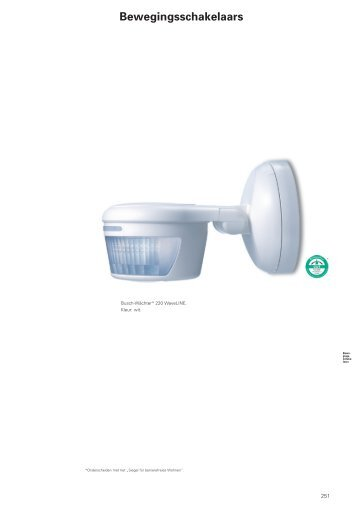 Bewegingsschakelaars - Busch-Jaeger Elektro GmbH