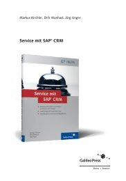 Service mit SAP CRM (PDF) - SAP-Press