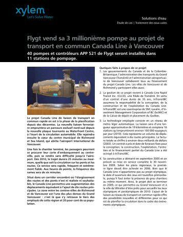 Flygt vend sa 3 millionième pompe au projet de ... - Water Solutions