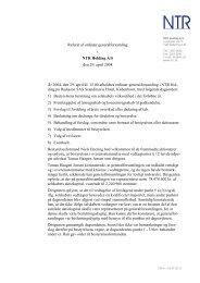 Referat af ordinær generalforsamling i NTR Holding A/S den 29 ...
