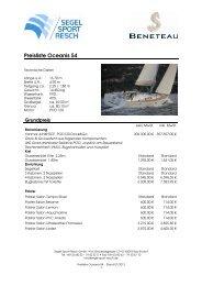 Preisliste Oceanis 54 - Segel Sport Resch