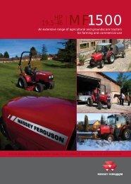 Preview image: MF 1500 AG & GC 14998 - Massey Ferguson