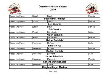 Österreichische Meister 2010 - ACWDA