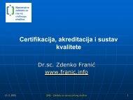 Certifikacija, akreditacija i sustav kvalitete