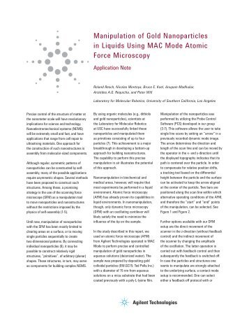 Manipulation of Gold Nanoparticles in Liquids Using ... - H TEST a.s.