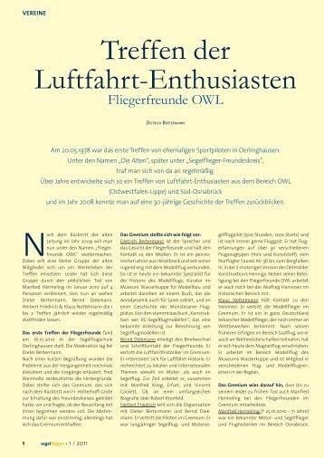 Treffen der Luftfahrt-Enthusiasten - Segelfliegen-Magazin