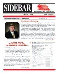 Winter 2012-2013 Issue - Montgomery Bar Association