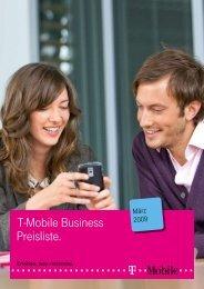 T-Mobile Business Preisliste.