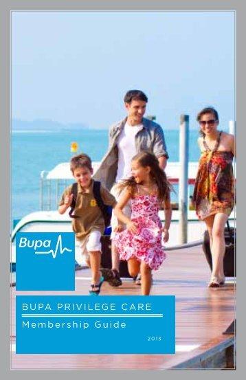 BUPA PRIVILEGE CARE Membership Guide - ASA International ...