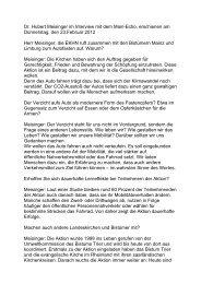 Dr. Hubert Meisinger im Interview mit dem Main-Echo, erschienen ...