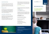 it-ausbildung an der rub - des Rechenzentrums - Ruhr-Universität ...