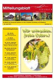 KULTUR- UND TOURIST-INFO - Seelbach, Schutter