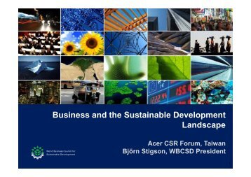 Business and the Sustainable Development Landscape