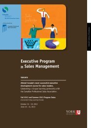 Sales Leadership - Schulich Executive Education Centre - York ...