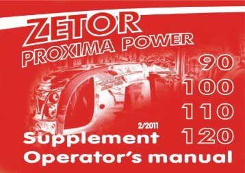 The following rules for a proper use of the Proxima Power Trac- tor ...