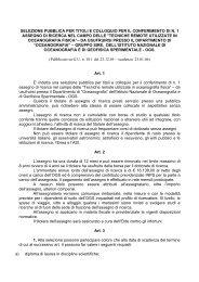 selezione pubblica per titoli e colloquio per il conferimento di n. 1 ...