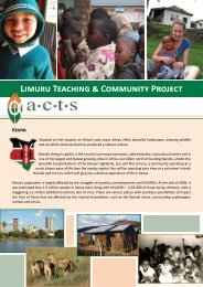 Limuru Teaching & Community Project Kenya - Mission Travel