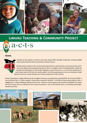 Limuru Teaching & Community Project Kenya - Mission Travel