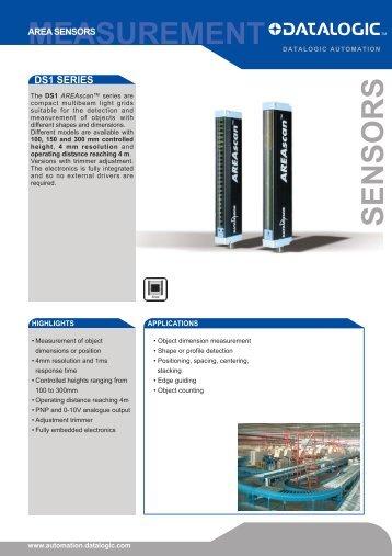 DS1 datasheet - Datasensor