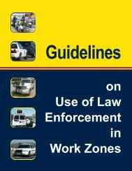 Guidelines on Use of Law Enforcement in Work Zones - Washington ...